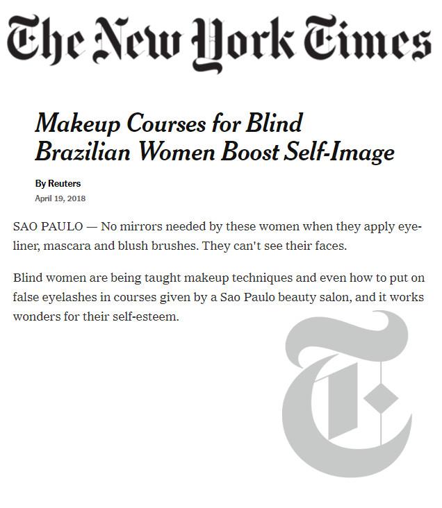 Chloe Gaya Feliz em ver meu projeto do coração no The New York Times!